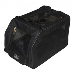 black pet car seat carrier