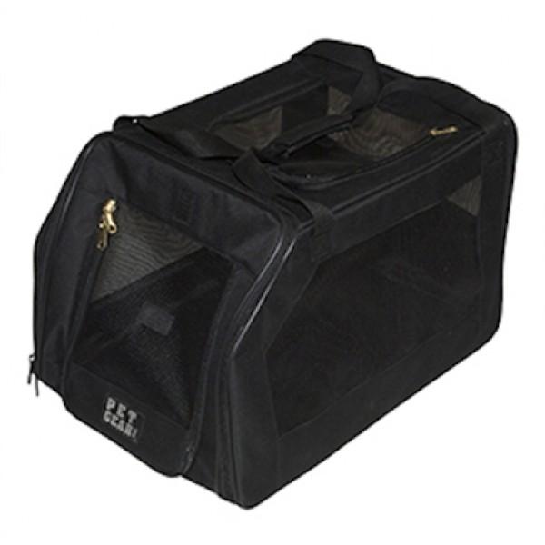 black pet car seat carrier